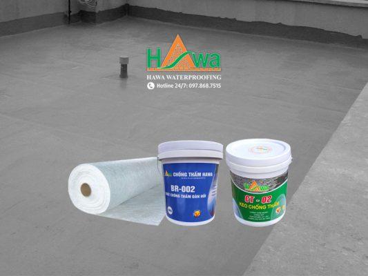 sản phẩm sử dụng trong chống thấm sàn mái