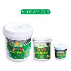 keo chống thấm CT-02 là sản phẩm phụ gia chống thấm dạng keo lỏng