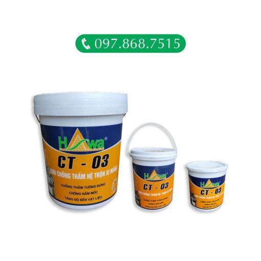 Chất chống thấm CT03 là Sơn Chống Thấm Hệ Trộn Xi Măng