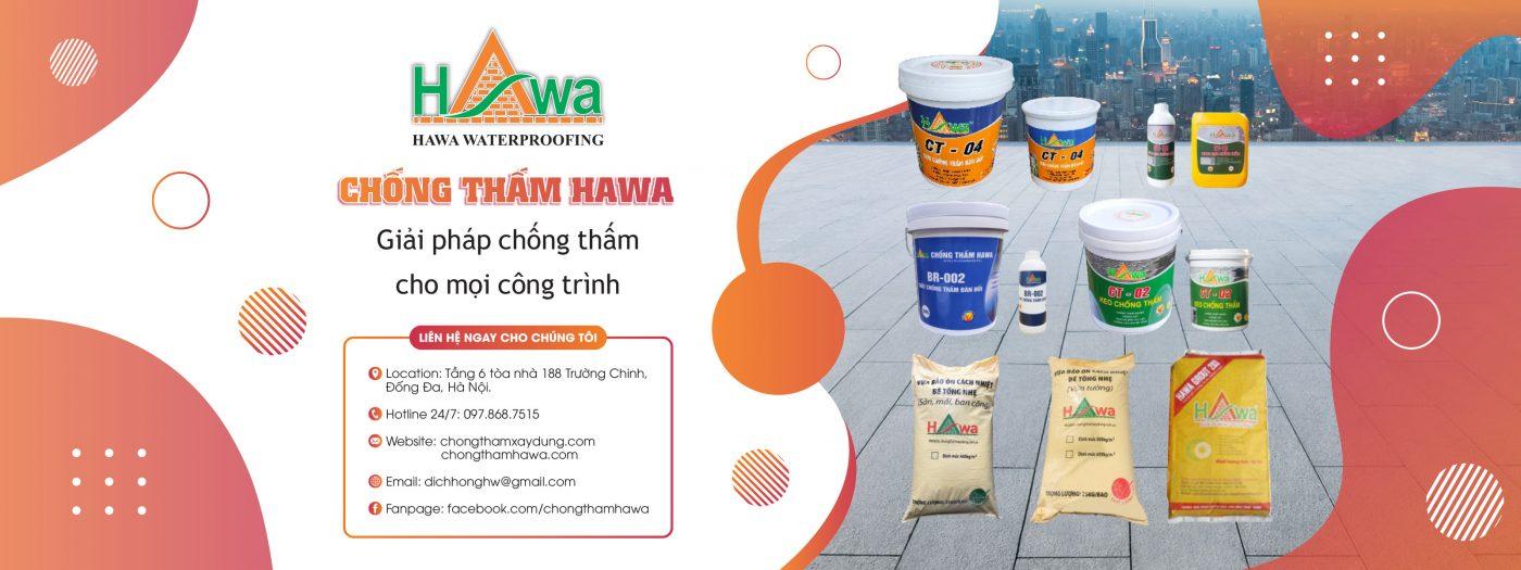 sản phẩm chống thấm của công ty Dịch Hồng Hawa