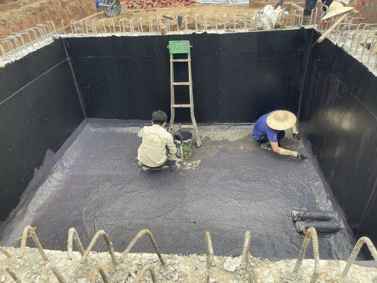thi công chống thấm bể nước sử dụng chất chống thấm đàn hồi BR-002