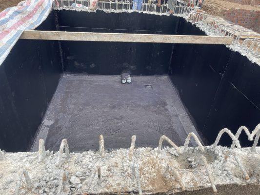 thi công chống thấm bể nước sử dụng chất chống thấm đàn hồi BR-002 tại Bắc Ninh