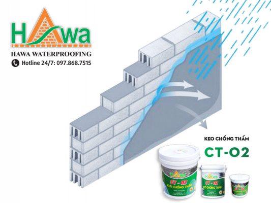 chống thấm tường sử dụng ct-02