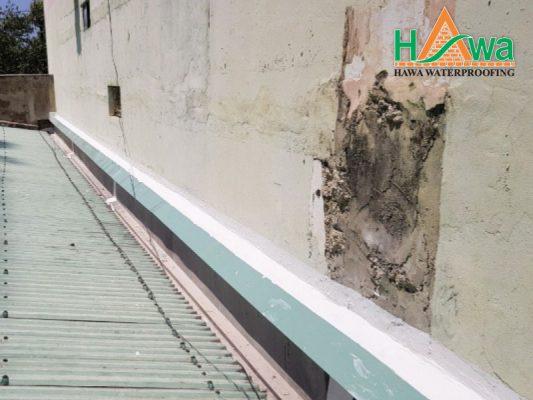 chống thấm tường nhà liền kề dùng máng xối